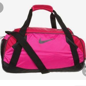 Nike Varsity Girls Med Duffle Sport Neon Red Blac